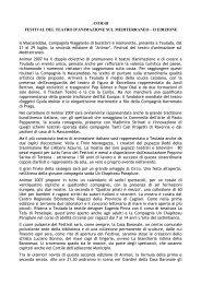 ANIMAR FESTIVAL DEL TEATRO D'ANIMAZIONE SUL ...