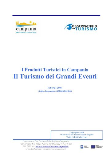 Il Turismo dei Grandi Eventi - ONT Osservatorio nazionale del Turismo