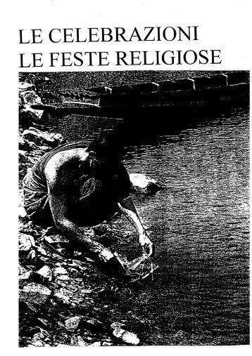 Page 1 Page 2 LE CELEBRAZIONI E LE FESTE RELIGIOSE Page 3 ...
