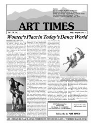 Women's Place in Today's Dance World - Art Times