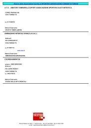 Elenco delle Associazioni iscritte al REGISTRO ... - Città di Torino