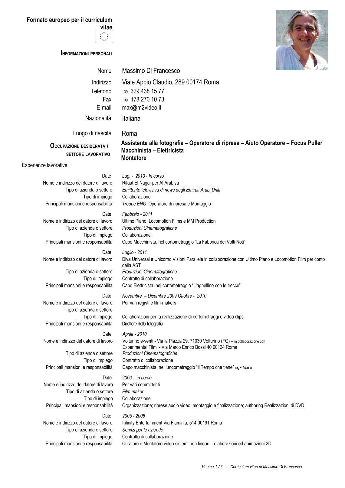 Asombroso último Formato Curriculum Vitae Pdf Inspiración - Ejemplo ...