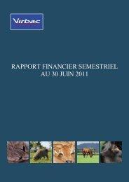Rapport financier semestriel 2011 FR - Virbac