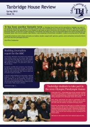 continued from page 1 - Tanbridge House School