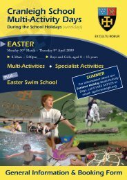 Cranleigh School Multi-Activity Days