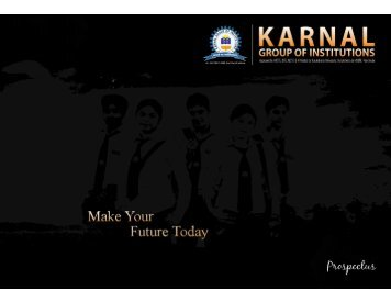 Full page fax print - Karnal Institute of Technology & Management