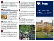 SELF-GUIDED WALKING TOUR - Penn Admissions - University of ...