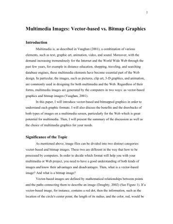 Multimedia Images: Vector-based vs. Bitmap Graphics