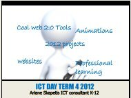 ICT DAY TERM 4 2012 Cool web 2:0 Tools Animations Professional ...