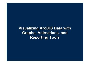 Visualizing ArcGIS Data with Graphs, Animations, and Reporting Tools