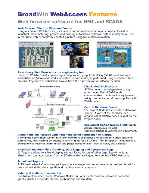 Web Browser Software For Hmi And Scada Broadwin Technology