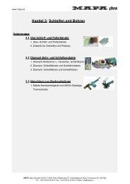 Kapitel 3: Schleifen und Bohren - MAPA plast