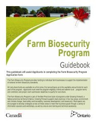 Farm Biosecurity Program - Ontario Ministry of Agriculture, Food and ...