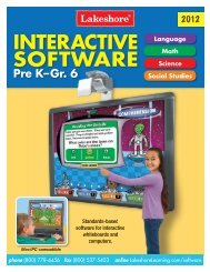Interactive Software Pre K-Gr.6 - Lakeshore Learning Materials