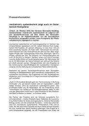 Presseinformation mechatronic systemtechnik zeigt auch im Solar ...