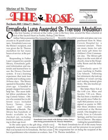 Feb. Rose - Shrine of St. Therese
