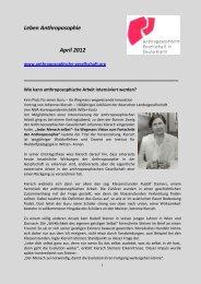 Ausstellungen - Anthroposophische Gesellschaft in Deutschland