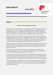 AGiD Aktuell Juni 2011 - Anthroposophische Gesellschaft in ...