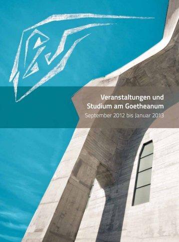 Programm - Goetheanum