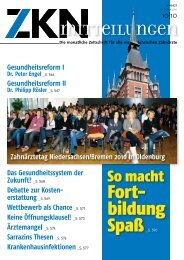 Gesundheitsreform I - Zahnärztekammer Niedersachsen