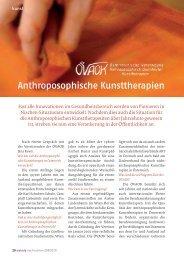 Anthroposophische Kunsttherapien