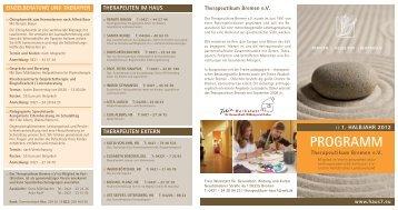 Programm 1. Halbjahr 2012 | Haus7 | Therapeutikum Bremen e.V.