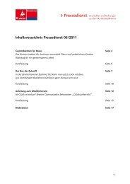 Inhaltsverzeichnis Pressedienst 06/2011