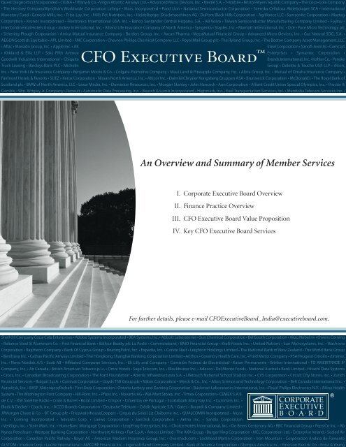 Cover Subtitle - Working Council for Chief Financial Officers