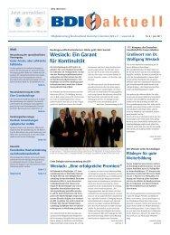 Wesiack: Ein Garant für Kontinuität - beim BDI