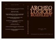 LXII–2010–3 393–584 - Archeologický ústav AV ČR