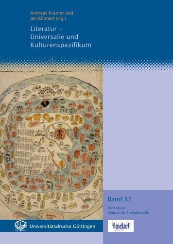 Literatur - Universalie und Kulturenspezifikum - Oapen