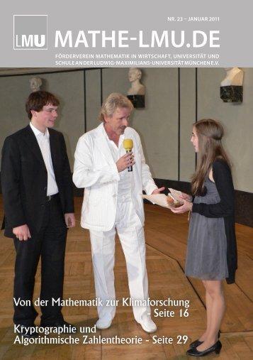 mathe-lmu.de - Mathematisches Institut der Ludwig-Maximilians ...