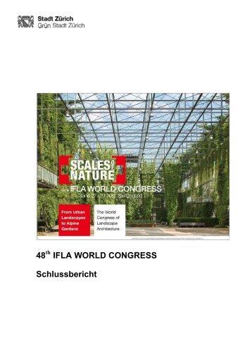 48 IFLA WORLD CONGRESS Schlussbericht - BSLA