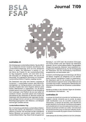 Journal 7/09 - BSLA