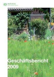 Geschäftsbericht 2009 - Stadt Zürich