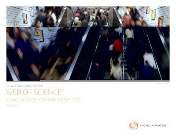 WEB OF SCIENCE® - Universiti Kebangsaan Malaysia