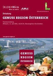 GENUSS REGION ÖSTERREICH - MPC Mayer + Partner