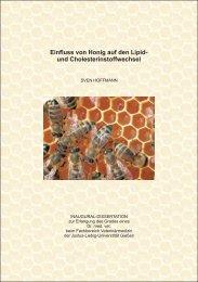 Einfluss von Honig auf den Lipid und Cholesterinstoffwechsel
