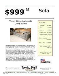 Velvet Glove Anthracite Living Room