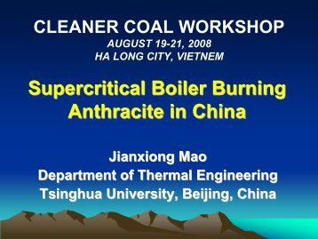 Supercritical Boilers Burning Anthracite in China - apec egcfe