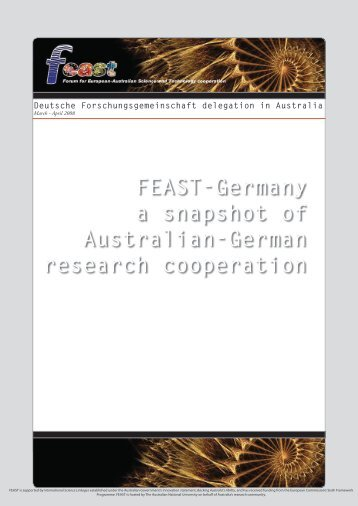 FEAST-Germany: a snapshot of Australian-German research ...
