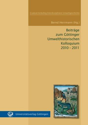 Beiträge zum Göttinger Umwelthistorischen Kolloquium ... - Oapen
