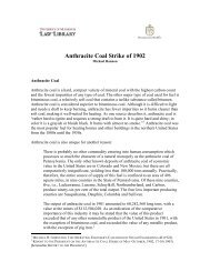 Anthracite Coal Strike of 1902 - The Clarence Darrow Collection