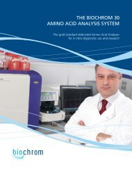 the biochrom 30 amino acid analysis system - Labface