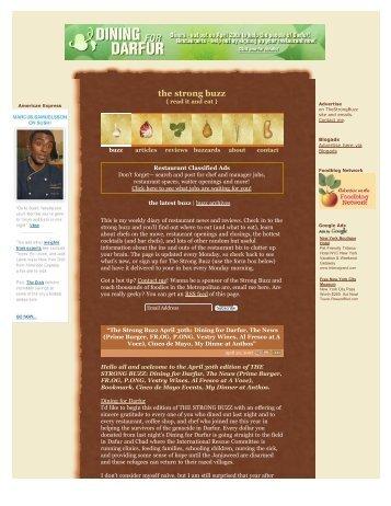 Dining for Darfur - Richard Sandoval Restaurants