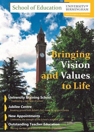 The School of Education - University of Birmingham