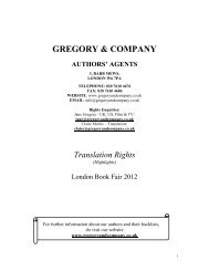 gregory & company authors' agents - ANAW