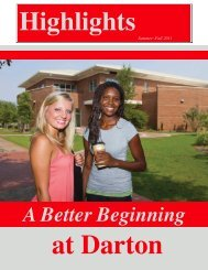 A Better Beginning - Darton College