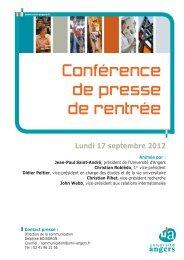Lundi 17 septembre 2012 - Université d'Angers