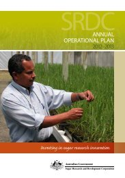 Annual Operational Plan 2012-2013 - Sugar Research and ...